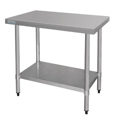 F.E.D. Table De Travail Inox - Sans Rebords - 600x900x900(h)mm