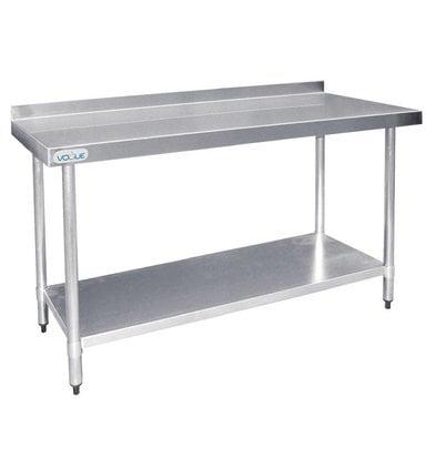 F.E.D. Table De Travail Inox + Dosseret - 1200x600x960(h)mm
