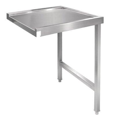 CHRselect Table De Sortie Droite Inox - Pour Lave-Vaisselle à Capot - 600mm