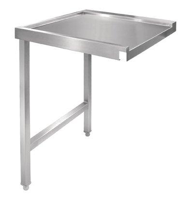 CHRselect Table De Sortie Gauche Inox - Pour Lave-Vaisselle à Capot - 1100mm