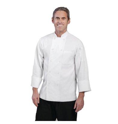 CHRselect Veste De Cuisinier Unisexe - Chef Works Le Mans - Manches Longues - Blanche - Disponibles En 6 Tailles