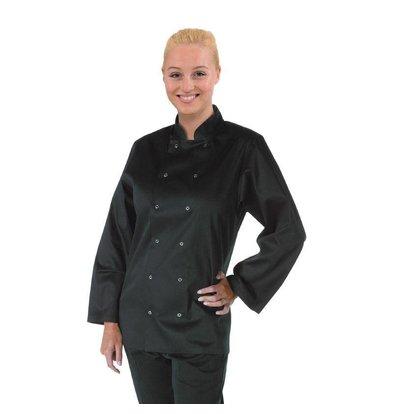 CHRselect Veste De Cuisinier Manches Longues - Noir - Whites - Disponibles En 6 Tailles