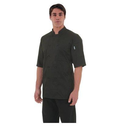 CHRselect Veste Chef Manches Courtes - Montréal ChefWorks - CoolVent - Noire - Disponibles En 6 Tailles
