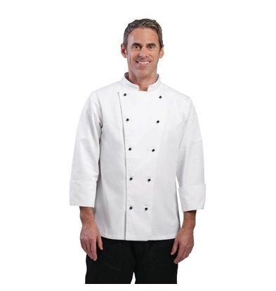 CHRselect Veste Chef à Manches Longues - Blanche - Whites Chicago - Disponibles En 6 Tailles