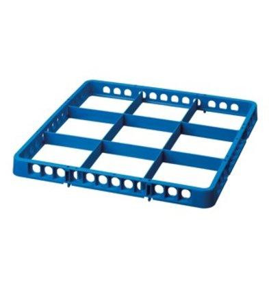 Bartscher Casier De Lavage à 9 Cases - 500x500mm - Bleu