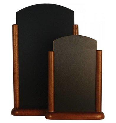 Securit Tableau Ardoise de Table Wengé - Large - 260x400mm