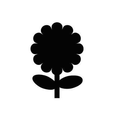 Securit Ardoise Silhouette Fleur + 1 Feutre Craie