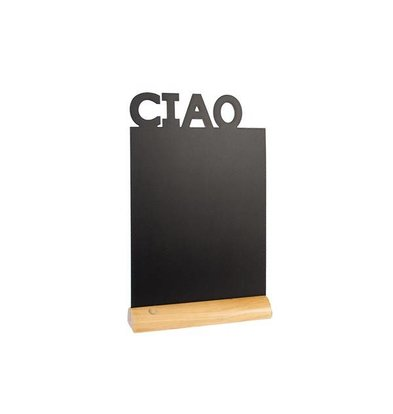 Securit Ardoise Silhouette CIAO + 1 Feutre Craie
