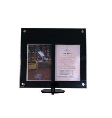 Securit Vitrine d'Affichage Menus Acryl | 2x A4 | LED | PIED VENDU SEPAREMENT