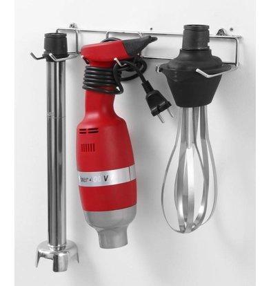 Hendi Mixeur Plongeur Inox - Usage Intensif - 15000tmp - 400W - Avec Accessoires et Support Murale