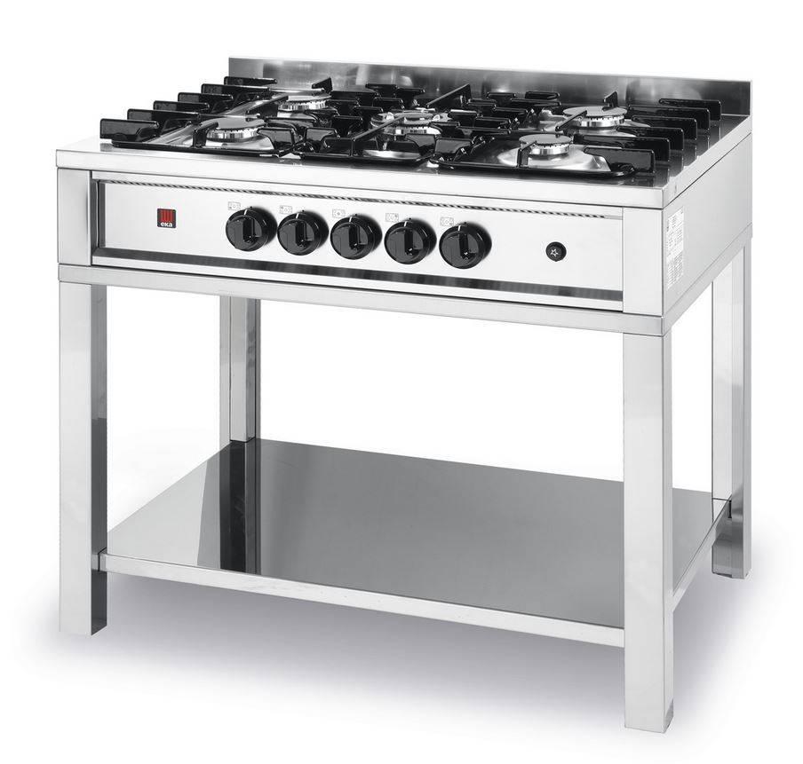 hendi table de cuisson au gaz inox 5 feux 14 3kw. Black Bedroom Furniture Sets. Home Design Ideas