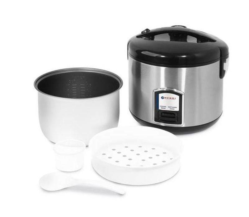 hendi cuiseur riz inox fonction cuisson vapeur 4 10 personnes 1 8 litres. Black Bedroom Furniture Sets. Home Design Ideas