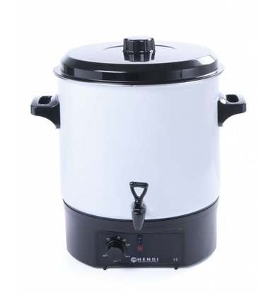 Hendi Distributeur d'Eau Chaude Inox | 27 litres | Blanc