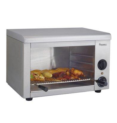 Hendi Salamandre Inox Type 580 - 50°C à 250°C - 2,2kW - 580x390x390(h)mm