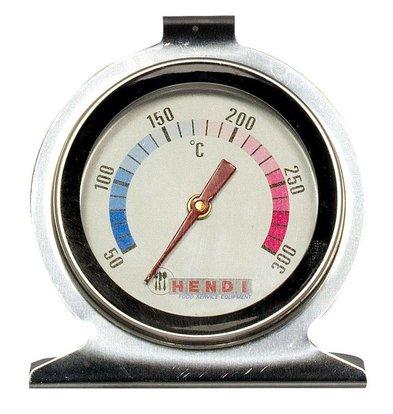 Hendi Thermomètre Pour Four | 50/300°C | Boîtier Inox | Incl. Crochet et Support