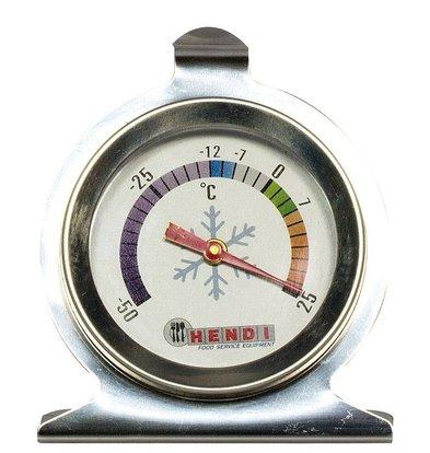 Hendi Thermomètre Pour Réfrigérateur | -50/+25°C | Incl. Crochet et Support | Ø60x70(h)mm