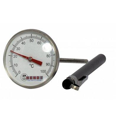 Hendi Thermomètre de Poche 0/100°C - Sonde Inox 127mm - Ø44,5x140mm