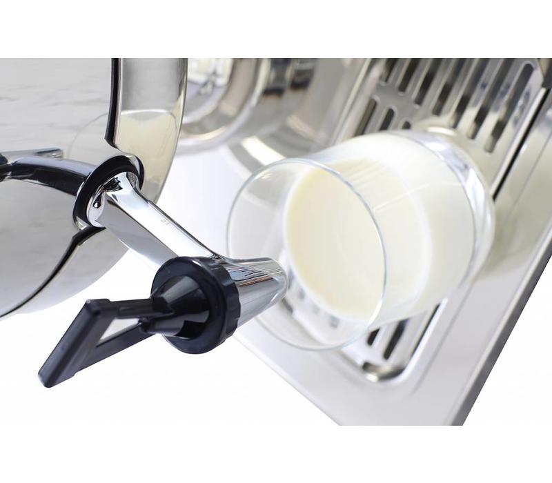 hendi fontaine de lait inox robinet antigoutte 10 5 litres 260x360x536 h mm. Black Bedroom Furniture Sets. Home Design Ideas
