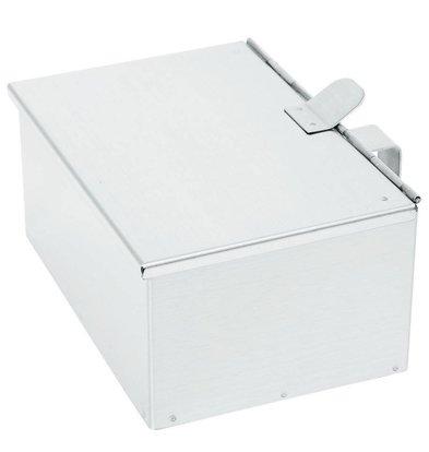 Hendi Ramasse-Cendres Inox - Couvercle à Charnière - 210x140x90(h)mm