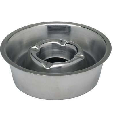 Hendi Cendrier Inox + Bac Collecteur  Ø140x40(h)mm