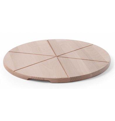 Hendi Planche à Pizza Bois d'Hêtre - Avec Rainures - Disponibles en 6 Tailles