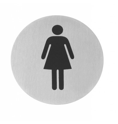 Hendi Pictogrammes Inox - Femmes - Ø75mm