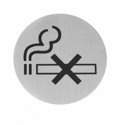 Hendi Pictogrammes Inox - Non Fumeur - Ø75mm