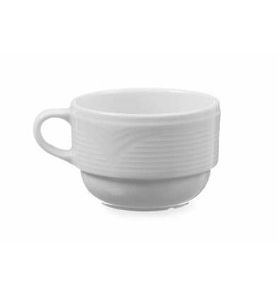 Hendi Tasse à Mocha Saturn - Porcelaine Blanche - 90ml