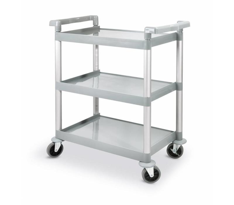 hendi chariot de service polypropyl ne 3 niveaux 150kg 800x410x950 h mm. Black Bedroom Furniture Sets. Home Design Ideas