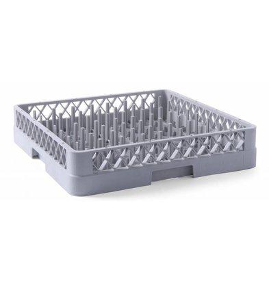Hendi Casier de Lavage Pour Assiettes - Polypropylène - 500x500x100(h)mm