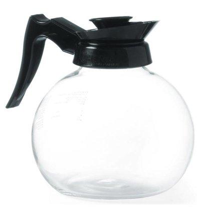 Hendi Verseuse à Café - Verre Trempé - Poignée Polypropylène - 1800ml - Ø160x185(h)mm