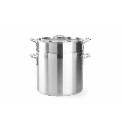 Hendi Cuiseur de Riz Avec Couvercle | Aluminium | 13 Litres | Ø320mm