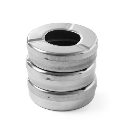 Hendi Cendrier Inox + Couvercle - Ø90x28(h)mm - 3 Pièces