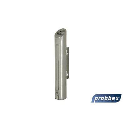 CHRselect Cendrier Murale Tubulaire | Inox Brillante | 1,8 Litres | Jusqu'à 540 Mégots | 75x75x460(h)mm
