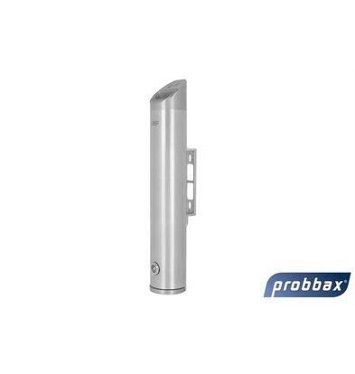 CHRselect Cendrier Murale Tubulaire | Aluminium | 2,4 Litres | Jusqu'à 720 Mégots | 80x80x480(h)mm