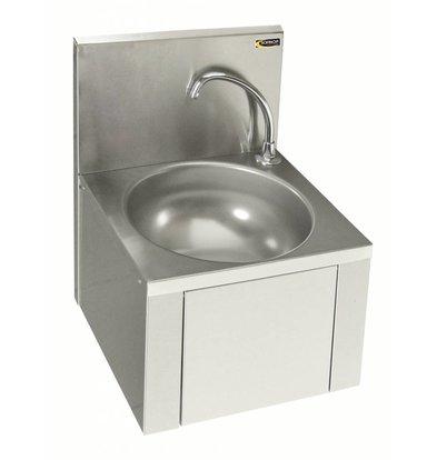 Sofinor Lave-Mains Inox AISI 304 | Commande au Genou | Consommation d'Eau Faible | 384x353x(H)524mm