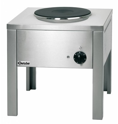 Bartscher Réchaud Sur Pieds Gaz - Inox - Plaque De Ø300mm - 500x500x520(h)mm
