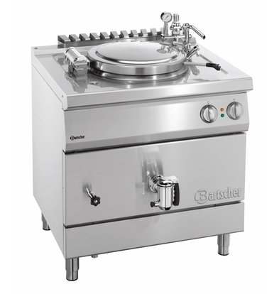 Bartscher Marmite Électrique Inox - Chauffage Indirecte - 55 Litres - 12kW - 800x700x850-900(h)mm