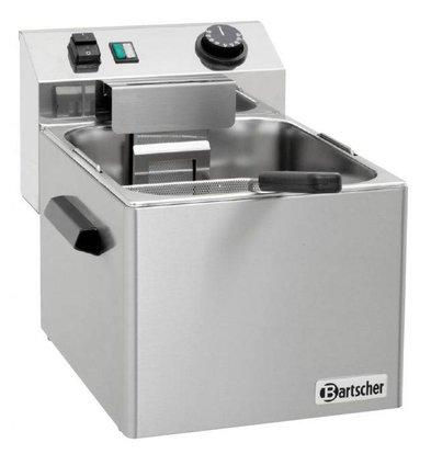 Bartscher Cuiseur Pâtes Inox + 1 Panier - Cuve 7 Litres - 3,4kW - 210x235x100(h)mm