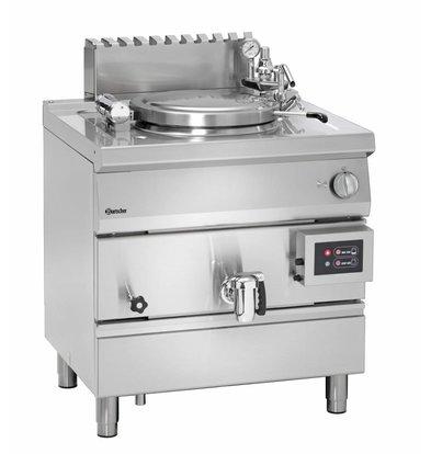 Bartscher Marmite à Gaz Inox - Chauffage Indirecte - 55 Litres - 15,5kW - 800x700x850-900(h)mm
