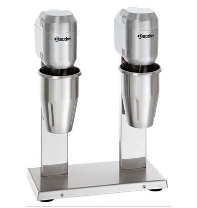 Bartscher Mixer à Boissons Inox Double - 2x700ml - 800W - 330x195x480(h)mm