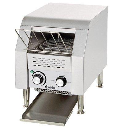 Bartscher Grille-Pain à Convoyeur Inox - 75 Toasts Par Heure - 1,34kW - 290x440x385(h)mm