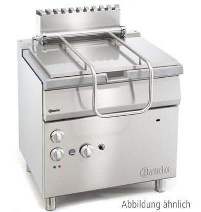 Bartscher Braisière Basculante Électrique - Basculement Motorisé - 85 Litres - 900x900x850-900(h)mm