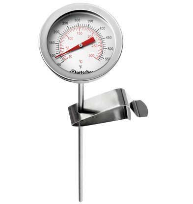 Bartscher Thermomètre Pour Friteuse Inox | +10/+300°C | Ø50-320(h)mm