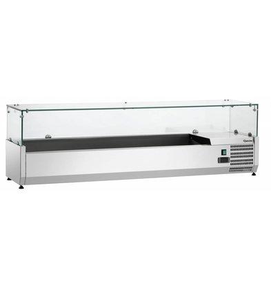 Bartscher Présentoir Réfrigéré Inox Pour 3x GN1/3 + 1x GN1/2 -1200x380x450(h)mm