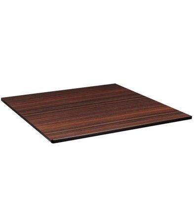 Compact Exterior Plateau De Table | Ébène | Compact Exterior | 600x600mm