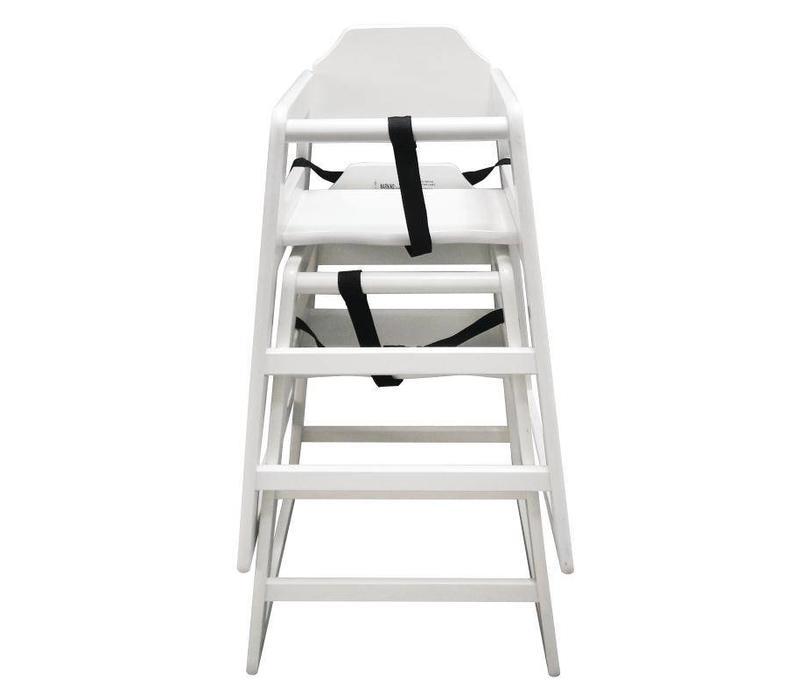 Chrselect chaise haute en bois blanche hauteur du si ge - Siege pour chaise haute en bois ...
