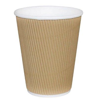 CHRselect Gobelets à Café Jetables | Marron | 230ml | 25 Pièces