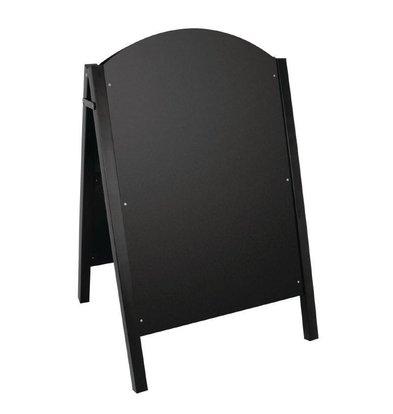 CHRselect Panneau de Trottoir Noir | Structure Métallique | 660x675x1025(h)mm