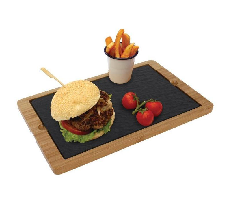Chrselect planche pour plat en ardoise bois 330x210x15 for Planche ardoise cuisine